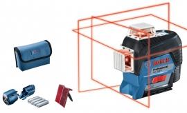 Линейный лазерный нивелир (построитель плоскостей) Bosch GLL 3-80 C + вкладка под L-Boxx (0601063R00, 0 601 063 R00)