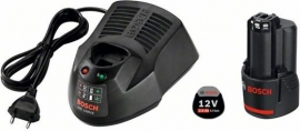 Базовый комплект Bosch GBA 12 В 2,0 Ач + AL 1130 CV Professional (Картон) (1600Z00041, 1 600 Z00 041)