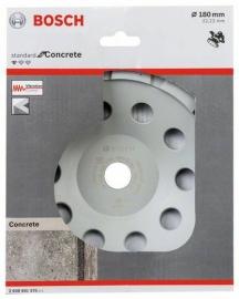 Алмазная чашка Standard, бетон 180мм (2608601575, 2 608 601 575)