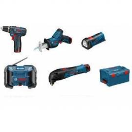 Набор 12V (10,8 В) 5-в-1 Bosch GSR + GST + GSA + GRO + GLI PowerLED (L-BOXX) Professional (0615990G0D, 0 615 990 G0D)