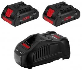 Набор 2 аккумулятора ProCORE 18V 4,0 Ач + GAL 1880 CV (1600A016GF, 1 600 A01 6GF)