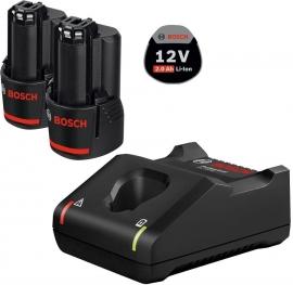 Набор 2 аккумулятора 12 В 2,0 Ач + зарядное устройство GAL12 V-40 (1600A019R8, 1 600 A01 9R8)
