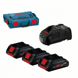 Набор. Аккумуляторы Pro CORE 18V 4,0Ач + GAL 1880 + L-Box (0615990L1R, 0 615 990 L1R)