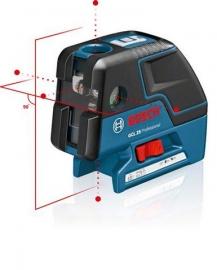 Комби-лазер (линейный + точечный) Bosch GCL 25 + BM1 (новый) в L-Boxx 136 (0601066B03, 0 601 066 B03)