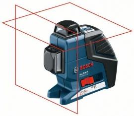Линейный лазерный нивелир (построитель плоскостей) Bosch GLL 2-80 P + BM1 (новый) + LR2 в L-Boxx (0601063209, 0 601 063 209)