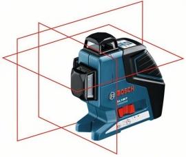 Линейный лазерный нивелир (построитель плоскостей) Bosch GLL 3-80 P + BM1 (новый) + LR2 в L-Boxx (060106330A, 0 601 063 30A)