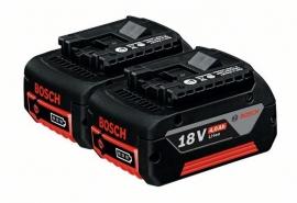 Комплект аккумуляторов Bosch GBA 18 В 4,0 А/ч M-C Professional (Картон) (1600Z00042, 1 600 Z00 042)